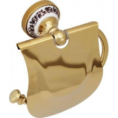 Бумагодержатель с крышкой Fixsen Gold Bogema FX-78510G
