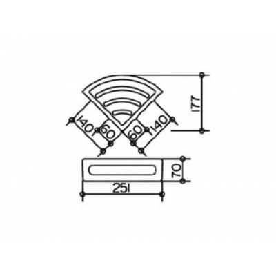 Полка Fixsen Forsa SF-37003 50 см