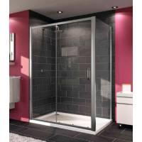 Односекционная раздвижная дверь для ниши и боковой стенки Huppe 140402 (120402) Х1, 120 см