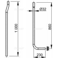 Водосливная труба Alca Plast A  мм из  частей  прокладка гофрированная