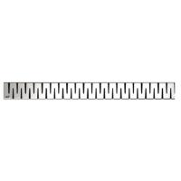 ZIP-850L Zip Решетка 850 для водоотводящего желоба (Нержавеющая сталь глянцевая)