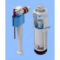 """WC8010C Набор с бок.подводкой 1/2"""" с пластик.штуцером, хром.кнопка"""