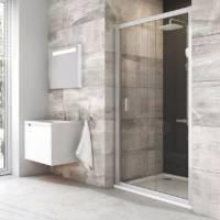 Душевая дверь Blix BLDP2-100 белый + Транспарент