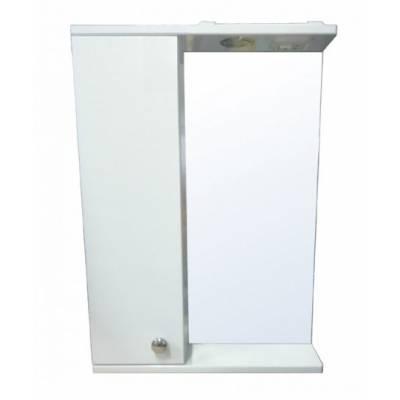 Зеркало-шкаф Моника 50 левый (500*695*135) со светильником