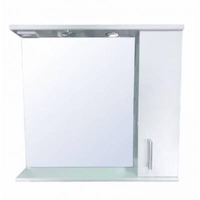Зеркало-шкаф со светильником Стиль Модерн 80