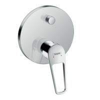 71345000 Novus Loop Однорычажный смеситель для ванны, с рукояткой-петлей, скрытый монтаж, хром