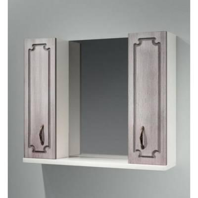 Шкаф зеркальный 80 б/о Патина  830х685х170