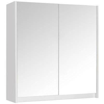 """Квадро"" шкаф зеркальный бел с/о 700х800х160"